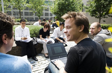 Students at Erasmus University Rotterdam