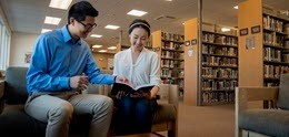 Students using Gateway Seminary library