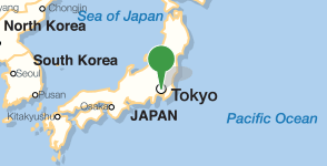 Map showing location of Keio University