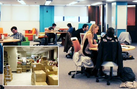 Before and after photos of McGill University Library's student space