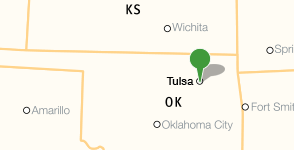 Map showing location of Tulsa Community College