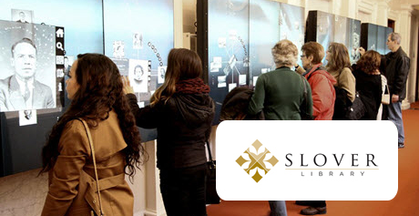 Blake Graham and Shaun Boyd in the Douglas County History Research Center