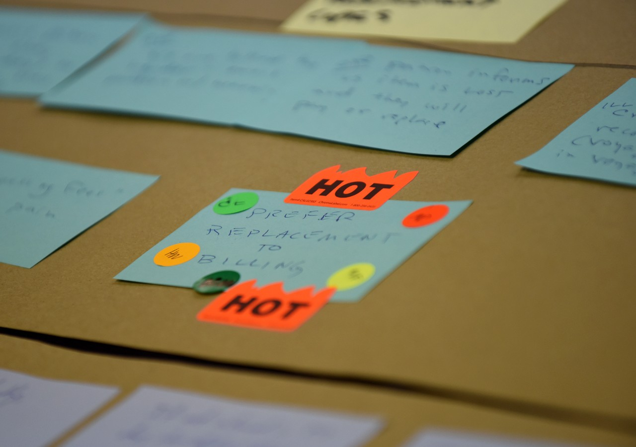 A workflow step labelled as a hot-button issue
