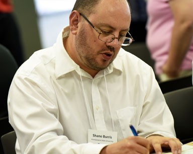 Shane Burris, Pennsylvania State University, participating in the ILL workshop