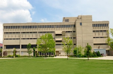 Nunn Hall bij Northern Kentucky University, waarin de Chase Law Library gevestigd is