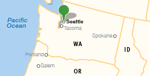 Map showing location of The Seattle Public Library