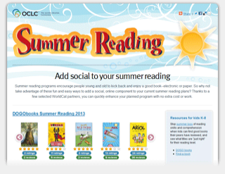 Image: OCLC Summer Reading website