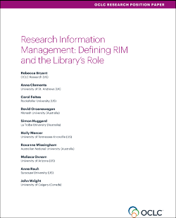 Research Information Management: Defining RIM and the Library's Role