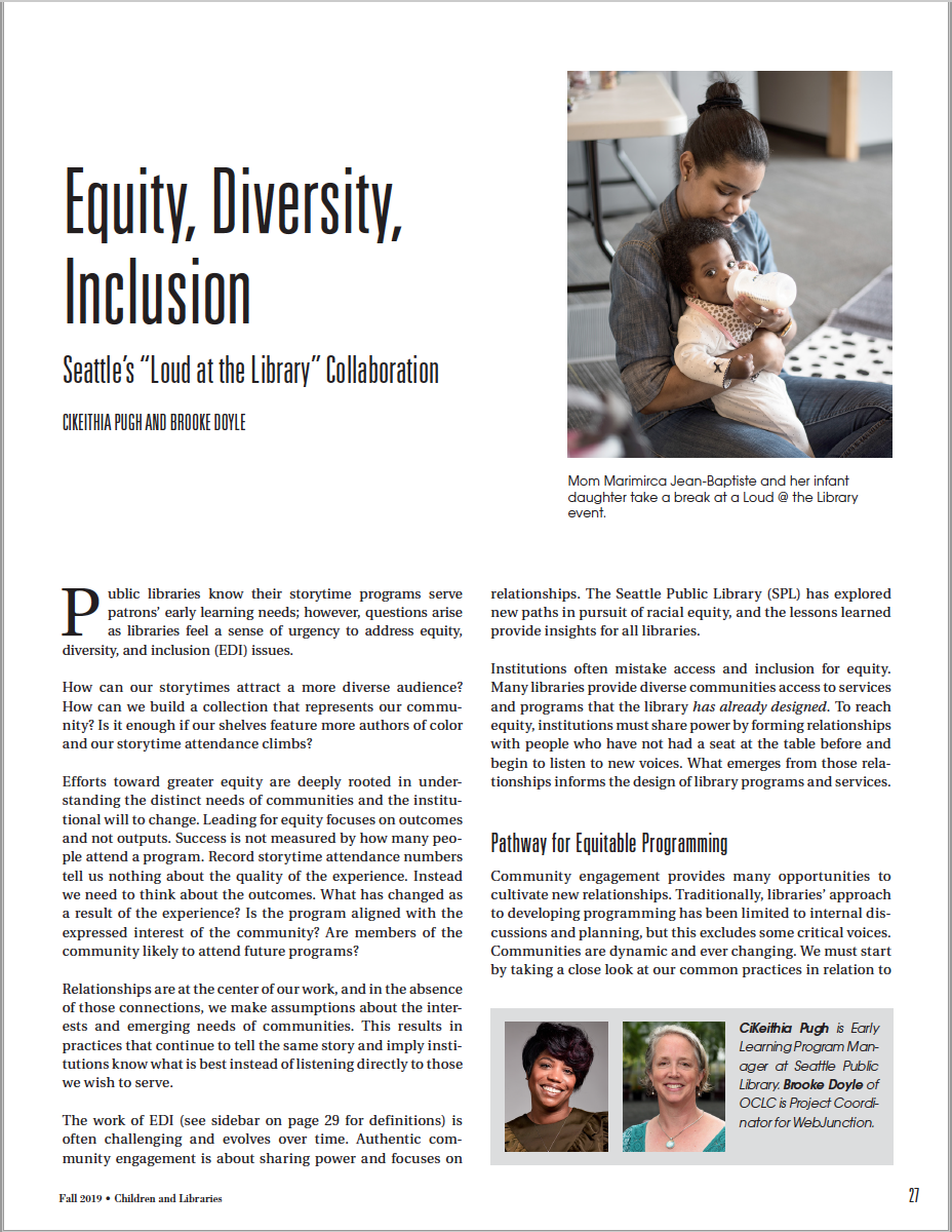 Equity, Diversity, Inclusion: Seattle's 'Loud at the Library' Collaboration